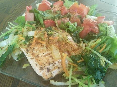 Salmon Veggie Salad